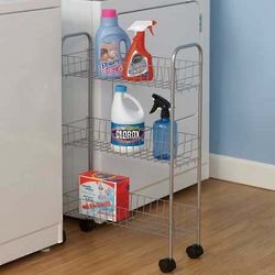 Slimline 3 Shelf Utility Cart