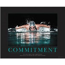 Commitment Swimming Motivational Poster