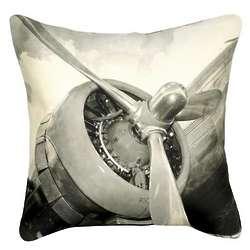 Vintage Airplane Pillow