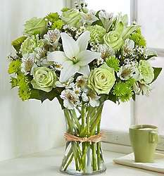 Serene Green Mixed Bouquet