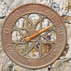 Medallion Indoor or Outdoor Wall Thermometer