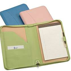 Junior Size Leather Zip Padfolio