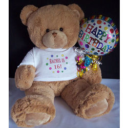 Sweet Sixteen Personalized Teddy Bear