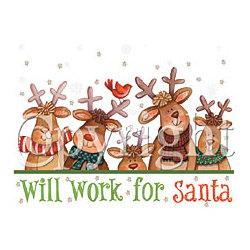 Will Work for Santa T-Shirt