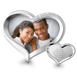 Double Heart Figural Frame