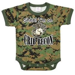 "Woodland Digital Camo ""Crib Recon"" One Piece Bodysuit"