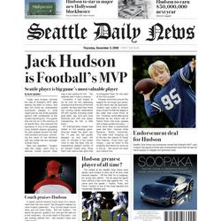 MVP Football Personalized Fake Newspaper Page