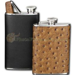 Black Leather Flask Cigar Holder