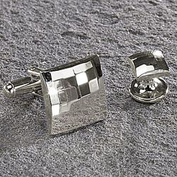 Square Deco Hammered Metal Stud Set
