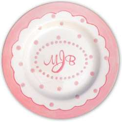 Personalized Pink Mimi 3 Section Plate