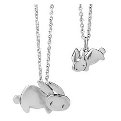 Mother and Daughter Matching Bunny Necklaces