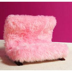 Modern Pink Faux Fur Pet Bed