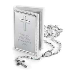 Girl's Rosary and Engraved Box