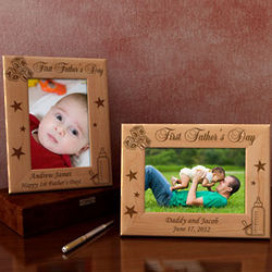 Personalized First Father's Day or Mother's Day Frame