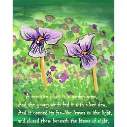 Violets in the Glen Personalized Art Print