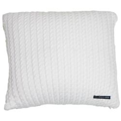 US Polo Association Sweater Knit White Decorative Pillows