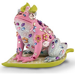 Promise of Pink Breast Cancer Awareness Frog Figurine