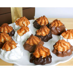 Belgian Chocolate Dipped Macaroons