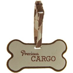 Dog Bone Pet Carrier Luggage Tag