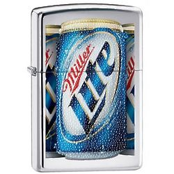 Miller Lite High Polish Chrome Zippo Lighter