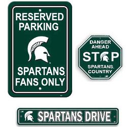 Michigan State Spartans Sign Set