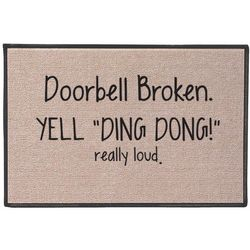 "Yell ""Ding Dong!"" Doormat"
