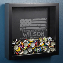 Personalized American Heroes Shadow Box