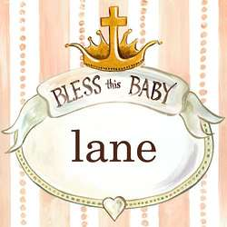 Personalized Bless This Baby Wall Art