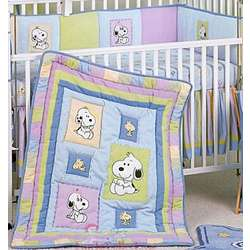 Snoopy And Family 6 Piece Crib Bedding Set Findgift Com