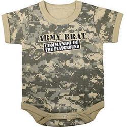 "Army Digital Camo ""Commando of the Playground"" One Piece Bodysuit"