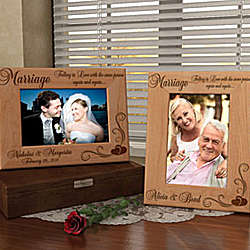 Personalized Our Marriage Wooden Picture Frame