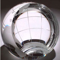 Small Crystal World Globe