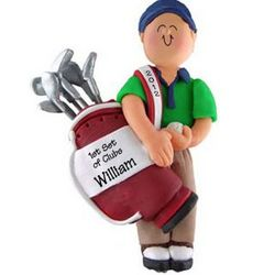 Male 1st Golf Clubs Ornament