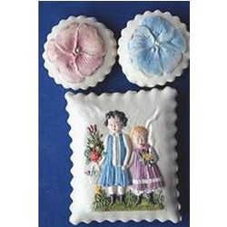 Girls and Pansies Cookie Gift Tin