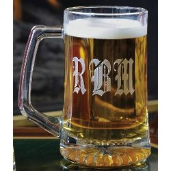 Personalized 14 Ounce Beer Mug for Groomsmen