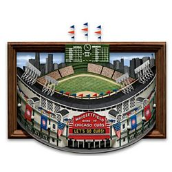 A Tribute To Historic Wrigley Field Wall Sculpture