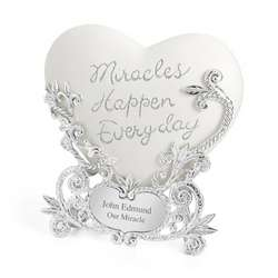 Personalized Miracle Heart Plaque
