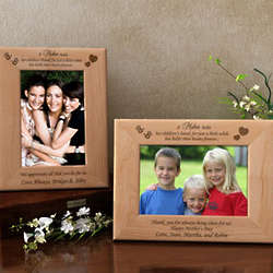 Personalized Mother's Heart Picture Frame