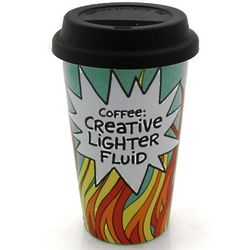Coffee Creative Lighter Fluid Travel Mug