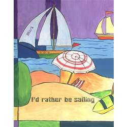 Summertime Sailing Personalized Art Print