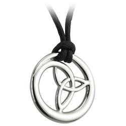 Pewter Style Trinity Circle Pendant