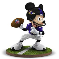 Baltimore Ravens Quarterback Hero Mickey Mouse Figurine