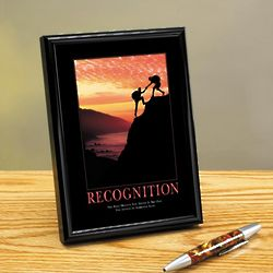 Inspirational Recognition Climbers Framed Desktop Print