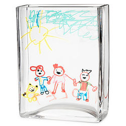 Personalized Children's Work of Art Vase