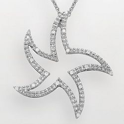 Sterling Silver Diamond Accent Starfish Pendant
