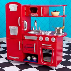 Personalized Red Kitchen Playset for Children