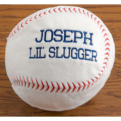 Personalized Kid's Baseball Pillow