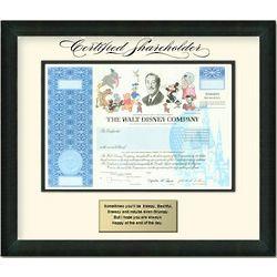 Framed Share of Disney Stock