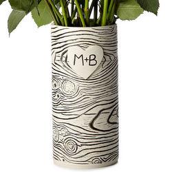 Faux Bois Personalized Vase
