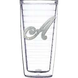Personalized Bling Initial Clear Tumbler